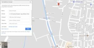 Tambahkan Lokasi GoogleMaps