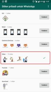 Stiker Pribadi Untuk WhatsApp